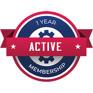 1yr Active Membership Badge